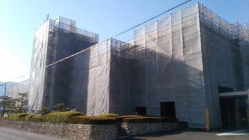 建物改修工事用足場